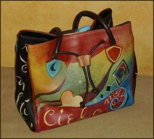Carteras y bolsos pintados a mano , accesorios pintados en Capital Federal, Argentina , Ropa y calzado