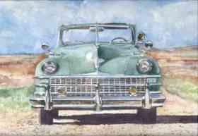 Fotos de Acuarelas de autos clásicos argentinos y del mundo