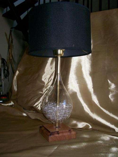 Fotos de lamparas de mesa en cristal soplado buenos for Lamparas de mesa de cristal