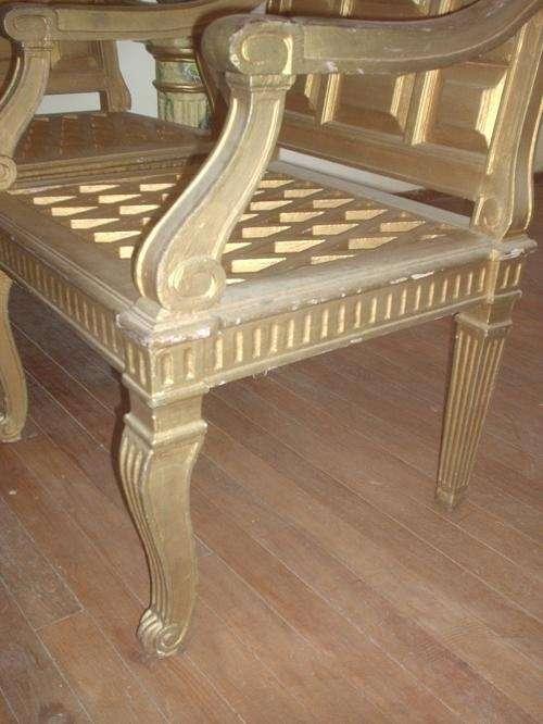 Fotos de unicos dos sillones de madera antiquisimos - Sillones de madera antiguos ...