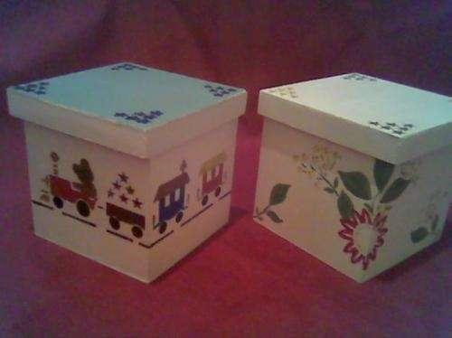 Cajas de maderas infantiles pintadas imagui for Cajas pintadas a mano