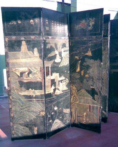 Fotos de biombo chino capital federal joyas antig edades - Biombos chinos antiguos ...