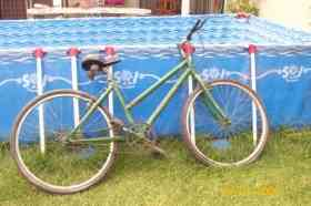 Fotos de bicicleta color verde