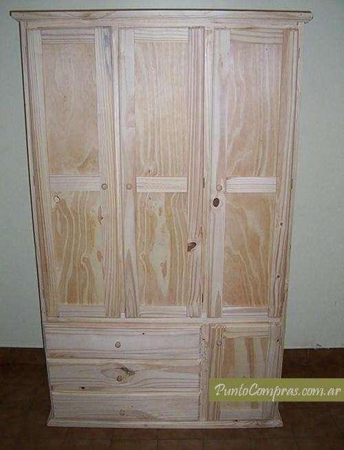 Fotos de ropero en pino 3 puertas excelente precio for Muebles de pino precios