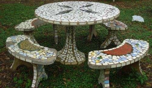 venta mesas de cemento para jardin usadas