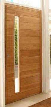 Fotos de puertas y ventanas de madera maciza de dise o for Disenos de puertas principales de madera