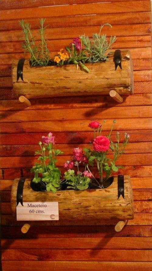 Fotos de jardineras macetas de tronco buenos aires for Decoracion de patios con macetas