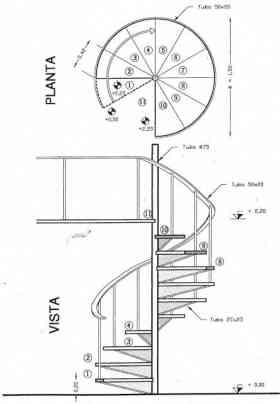 Fotos de escalera de caracol escaleras interiores escalera for Imagenes de escaleras de caracol