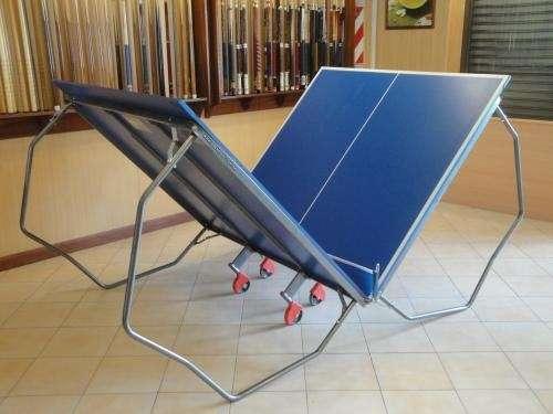 Mesa de ping pong profesional plegable c ruedas inclulle red agroverde maquinaria - Mesa ping pong plegable ...