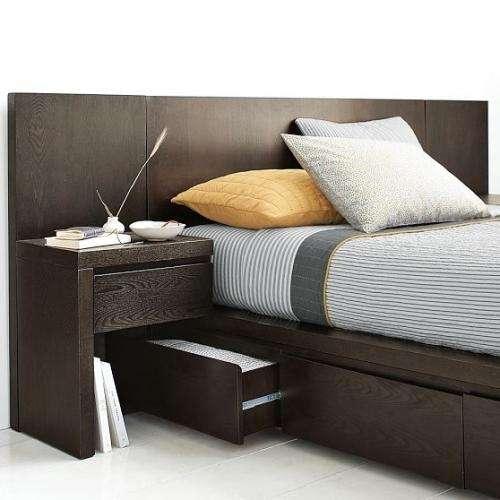 Pin camas de dos plazas con cajones y respaldo tapizado for Cama dos plazas