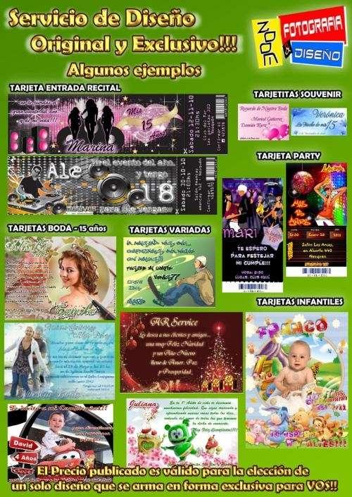 Solo diseño de tarjetas - invitaciones (cumpleaños de 15, bodas, infantiles, etc)