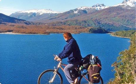 de travesía en bicicleta 7 lagos (san martín de los andes villa la