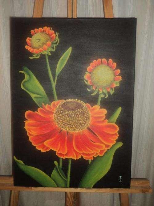 cuadros pintados con acrilico imagui