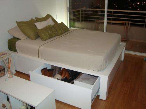 Bases de cama de madera con cajones images for Base de madera para cama matrimonial con cajones