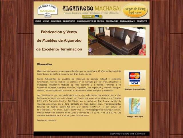 Muebles de algarrobo de primera calidad entregas en garín algarrobo