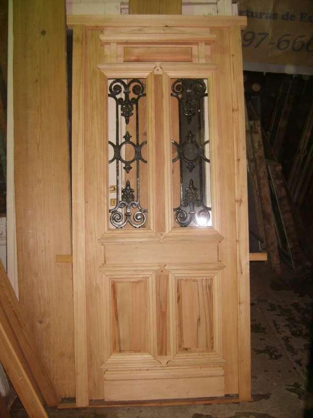 Fotos de puertas antiguas de madera con vidrios biselados - Puertas viejas de madera ...