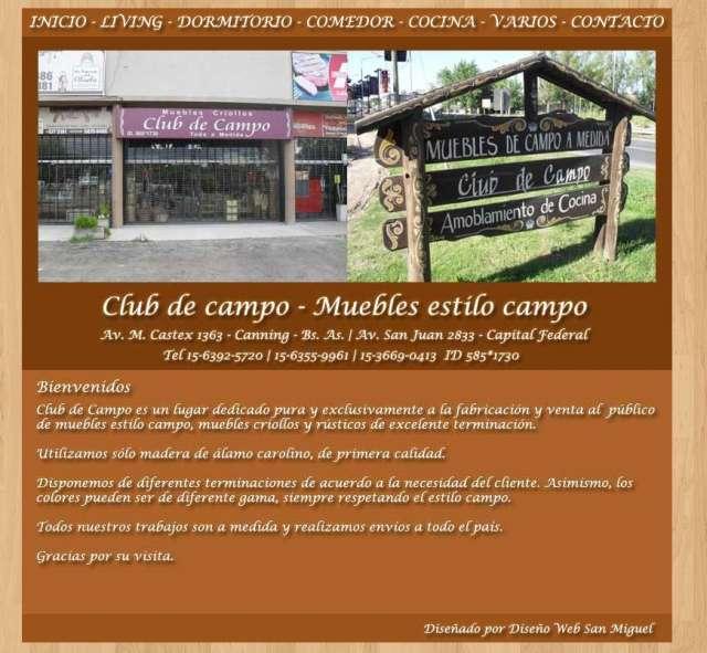 Muebles estilo campo  club de campo  entregas en cañuelas  zona