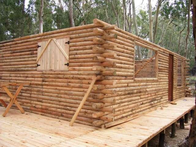 De caba as en madera casa troncos fotos casas picture - Construccion de cabanas de madera ...