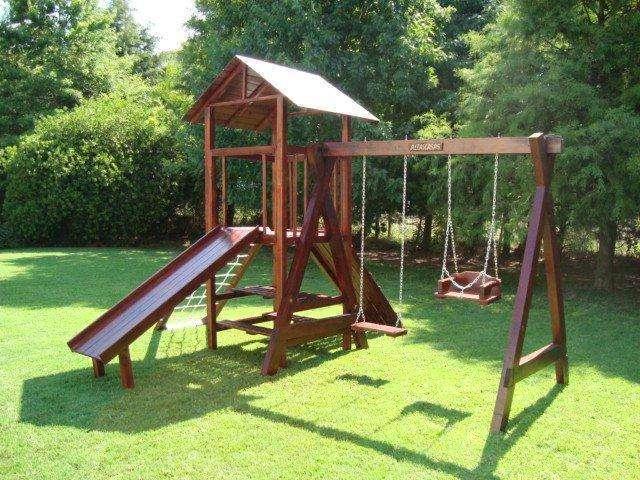 Juegos madera jardin imagui - Casetas de madera infantiles ...