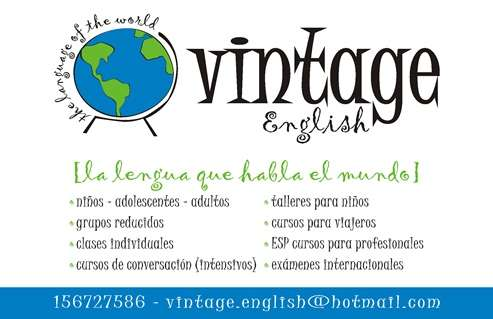 Vintage english (instituto de ingles en mendoza)