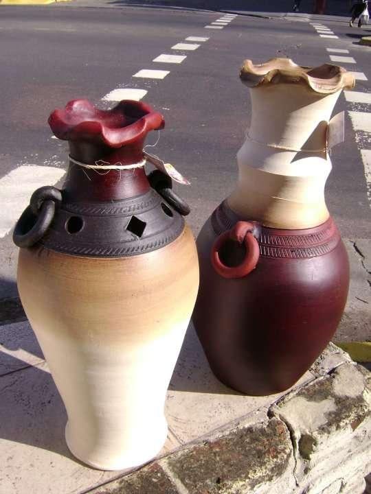 Pin jarrones barro pintados ceramica pictures on pinterest - Jarrones de ceramica ...