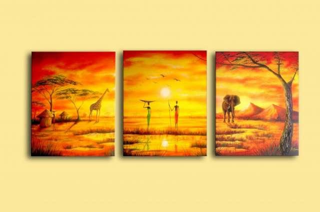 Cuadros oleo africanas imagui for Imagenes de cuadros modernos