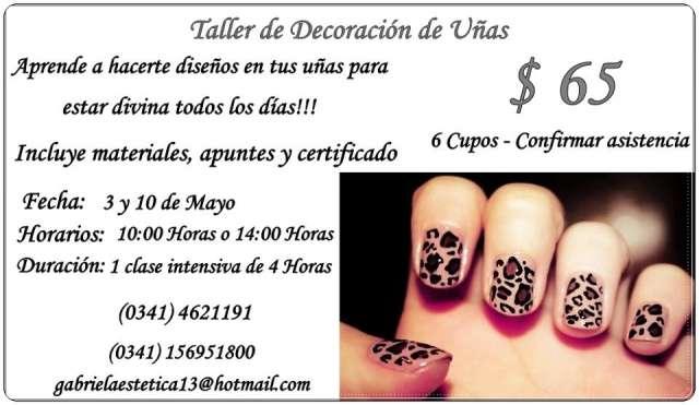 Curso de decoración de uñas - limpieza de cutis