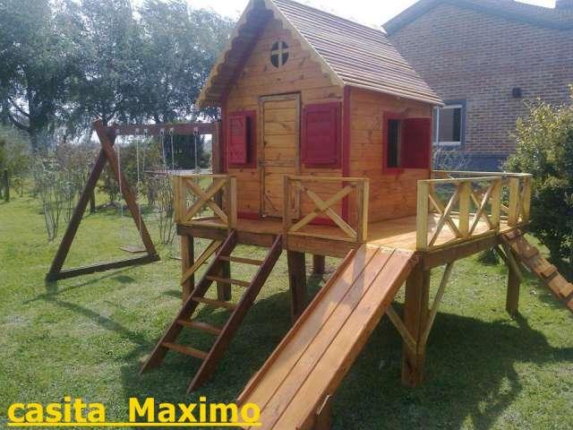 Art culos de madera para ni os imagui for Casas infantiles de madera para jardin