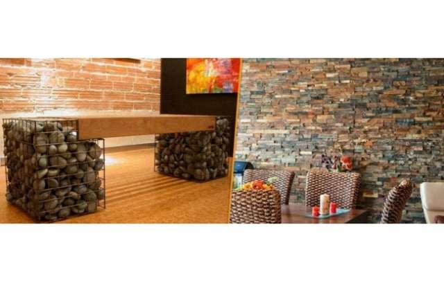 Casas cocinas mueble macetas interior for Piedras de jardin decorativas