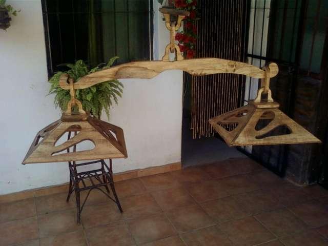 Lamparas de madera rusticas finest resultado de imagen - Lamparas de pie rusticas de madera ...