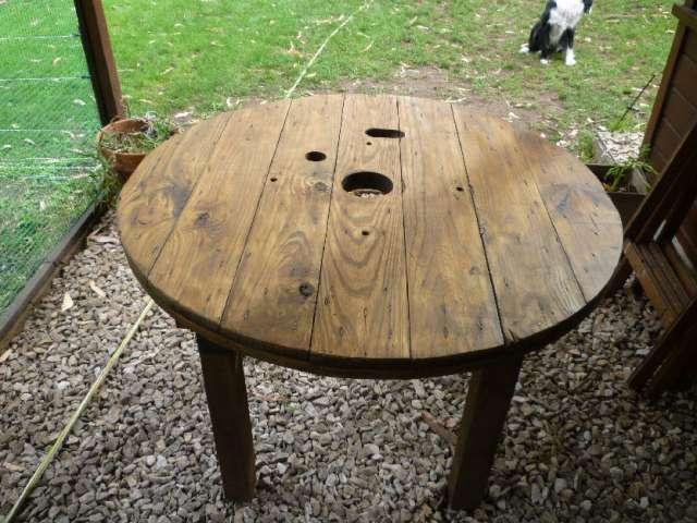 Mesa rustica de madera mesa rustica en madera maciza de - Mesa madera maciza rustica ...