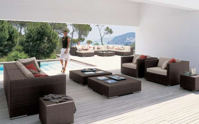 Muebles ratan sintetico muebles exterior muebles jardin - Muebles de jardin de ratan ...