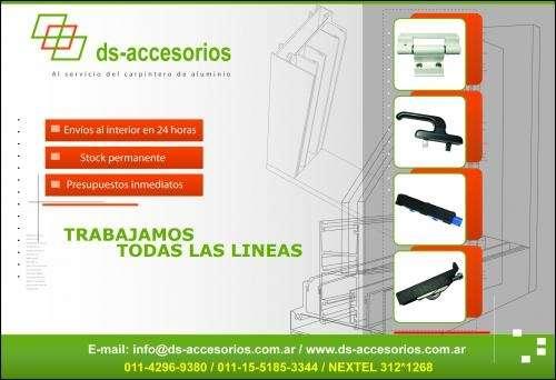 Accesorios para carpinteria de aluminio