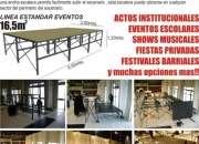ALQUILER ESCENARIOS - TARIMAS