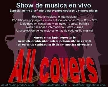 Shows para fiestas, eventos,musicales,celebraciones,all of music