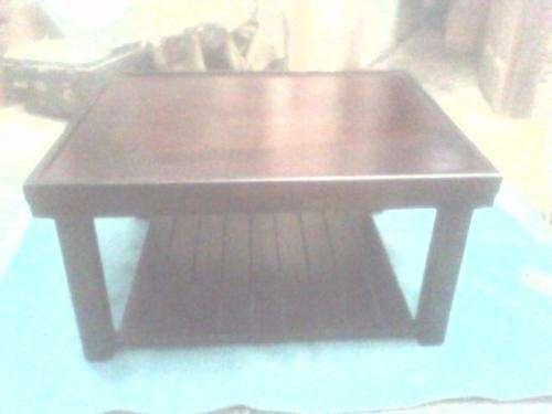 Mesa ratona madera nogal 77x62 revistero