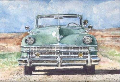 Acuarelas de autos clásicos argentinos y del mundo