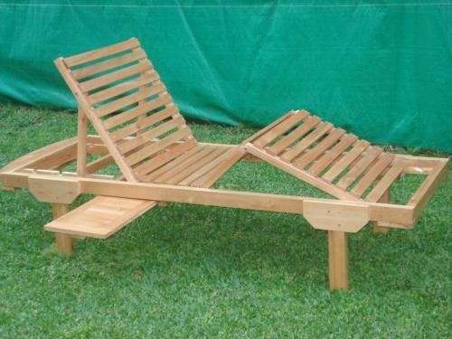 Mueblesreposeras para el jardin en madera de eucaliptus
