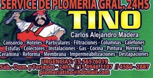 Servicio palermo reparacion calefon 45842887-1549463107 24 horas termotanque gas mataderos villa mitre flores liniers plomero