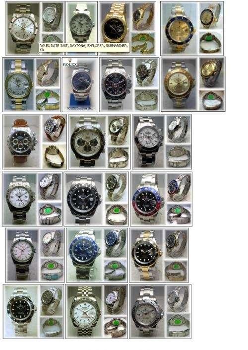 Relojes rolex date just, daytona, explorer, submariner, yacht master, gmt y mas... replicas exactas!!!