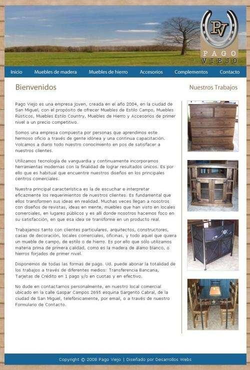 Pago viejo   muebles estilo campo   muebles de hierro