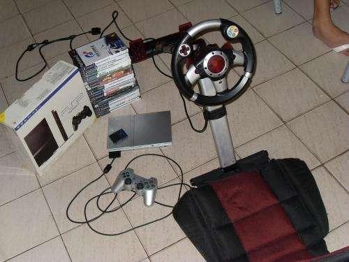 Playstation 2 slim + volante con butaca gamester
