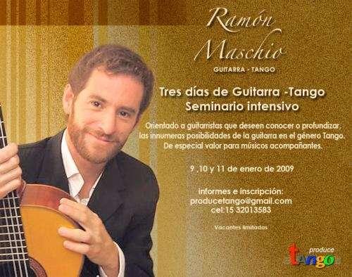 Seminario intensivo tres días de guitarra tango