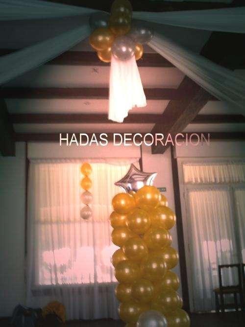 Decoracion con globos y entelados para eventos