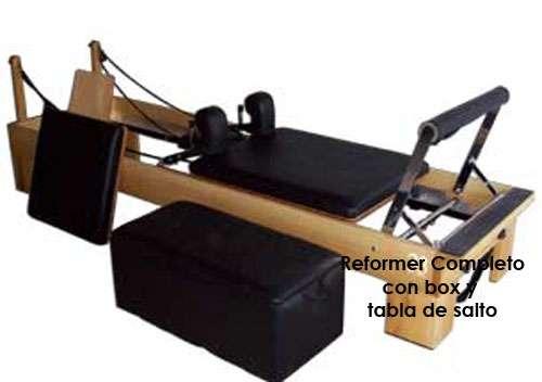 pilates reformer con tabla de salto