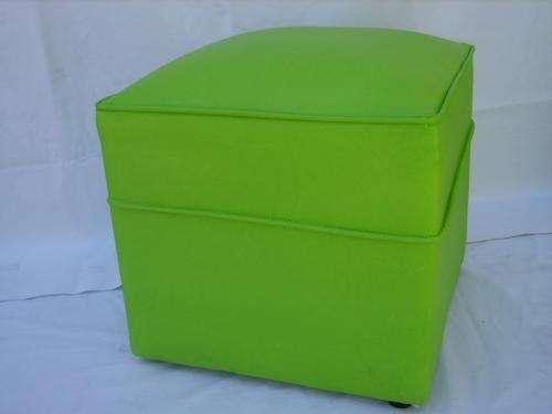 Puff cubo tapizados en cuero ecologico en Buenos Aires - Muebles ...