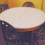 mesa extensible con 5 sillas