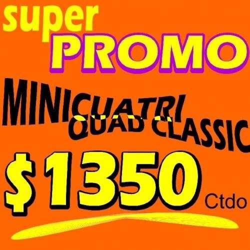 Mini cuatricilo 49cc ? oferta increible!!! $1350 ctdo.