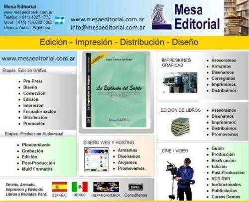 Tu libro impresion edicion www.mesaeditorial.com.ar