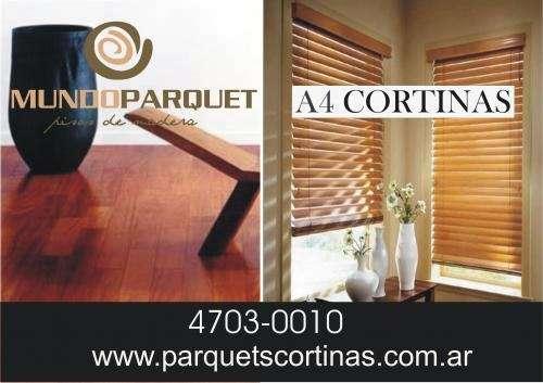 Cortinas de enrollar a4 - mundo parquet pisos de madera